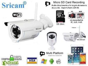 Camara Vigilancia Ip Wifi Exterior Hd Sd gb Sricam Sp007