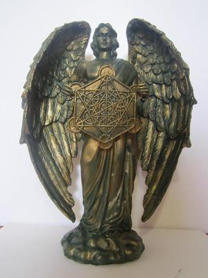 Escultura De Arcangel Metatron geometria sagrada