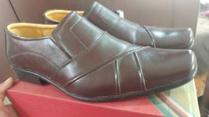 Zapatos De Cuero Marrones Talla 43