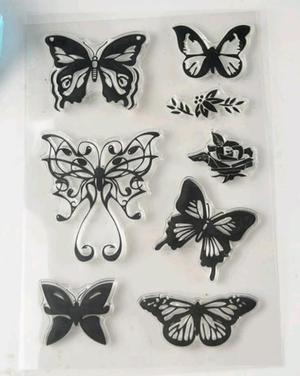 sello de mariposas,scrapbook,tarjetas