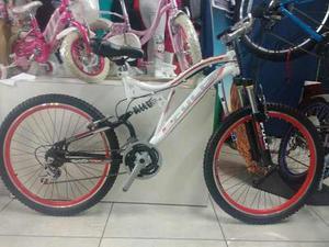 Bicicletas Fuller Doble Suspensión, Aro 26