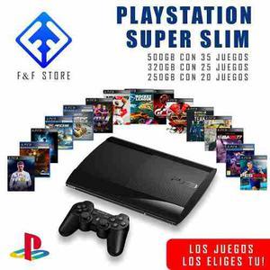 Ps3 Play Station 3 De 500gb + 35 Juegos A Escojer