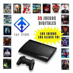 Ps3 Play Station 3 De 500gb + 35 Juegos Al Escojer