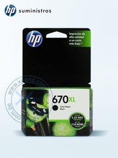 Cartucho De Tinta Hp 670xl, Color Negro, Para Deskjet Ink Ad