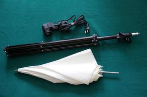 Kit de iluminación, parante socket y sombrilla