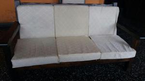 Muebles de madera con cojines posot class for Muebles de ocasion