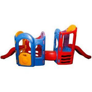 Remato playground 8 en 1 doble resbaladera posot class for Gimnasio 8 en 1 tunel y doble tobogan
