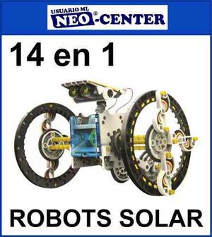 Robot Solar 14 En 1 * Kit Armable Educacional