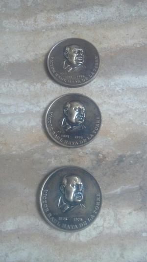 Moneda Medalla de Victor Raul Haya