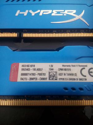 Memoria Ram Kingston Hyperx Fury Blue Ddrmhz, 8gb,