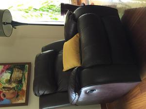 Sillón sofá de cuero