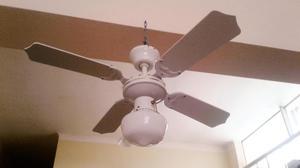 Ventilador techo 3 velocidades y foco REMATO
