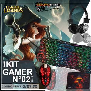 Kit Gaming N°02 Teclado Mouse Audifono Pad Mouse 4 En 1