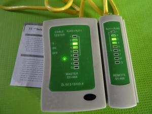 Tester Probador de Cable Internet RJ45 y Teléfono RJ11
