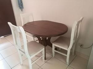 Comedor mesa de madera con 4 sillas posot class for Comedor 4 sillas