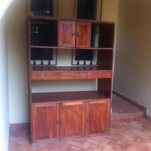 Mueble para sala de madera caoba posot class for Mueble de sala en madera