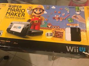 Nintendo Wii U + Mario Maker Y 3 Juegos + Amiibo