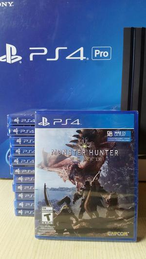 Monster Hunter World Ps4 Nuevo Sellado