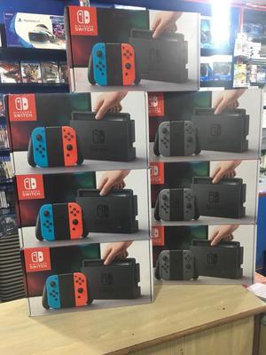 Nintendo Switch Gray Joycon Nuevo Sellado Stock Garantía