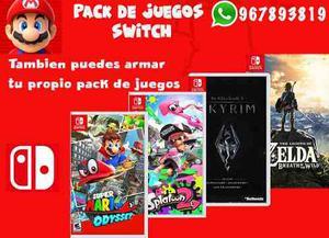 Pack De 4 Juegos Nintendo Switch Cuenta Principal