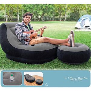 Sofa Sillon Inflable puff con reposapies de 2 piezas marca