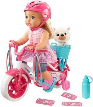 Muñeca En Bicicleta Con Mascota Aprende Manejo Little Mommy