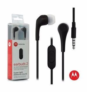 Auriculares De Botón Motorola Earbuds 2 Negro Con