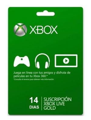 Membresia Xbox Live Gold 14 Dias Xbox One 360.!