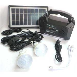 Sistema De Iluminacion Recargable Solar, Radio, Focos,nuevo