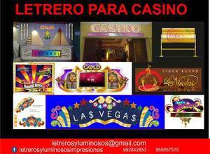 Letrero Luminosos, Letreros Casinos,tragamonedas, Laminado