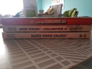 Juegos Wii Y Wiiu, Super Mario Galaxy, Sonic Lost World, Etc