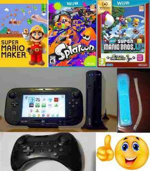 Nintendo Wii U Consola Con Juegos Y Accesorios