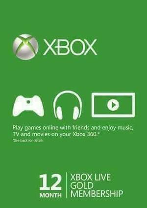 De Mrcargas Xbox Live Gold 12 Meses Membresia Ultra Promo
