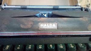 Antigua Maquna de Escribir Halda Sueca