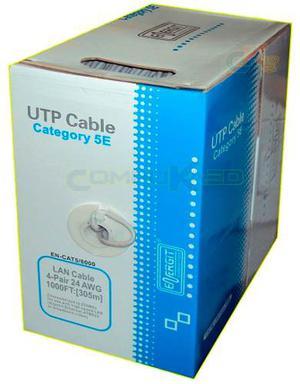 Cable De Red Utp Cat. 5e Energit Gris En Caja De 305 Metros