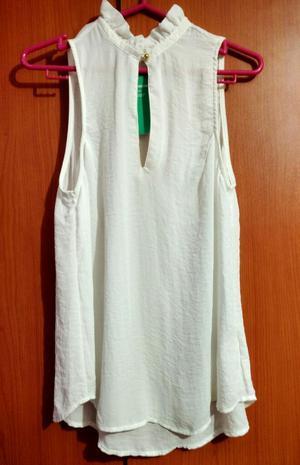 Blusa Marca Hm talla S Color Blanco