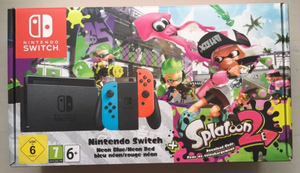 Nintendo Switch Neon Joy Con Splatoon 2 Garantía Boleta