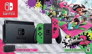 Nintendo Switch Splatoon 2 + Juego + Case Stock Sellado