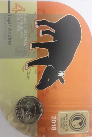 Blister 4ta Moneda Tapir Andino