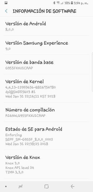Vendo O Cambio Samsung S8 Plus Libre.