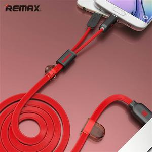 Cable REMAX USB 2 en 1 para iPhone y Android carga dos