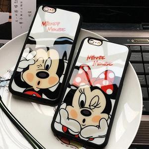 Case de Silicona Minnie / Mickey iPhone 7 Plus / 8 Plus