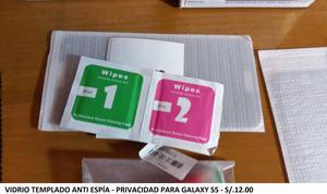 Vidrio templado anti espía privacidad para Samsung Galaxy