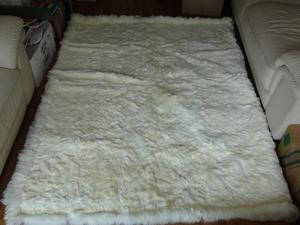 Alfombra 100 Alpaca Color Blanco 310 cm x 190 cm Sin Uso