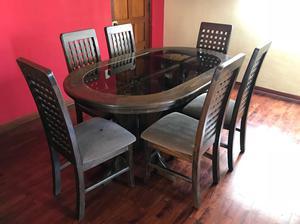 Comedor de 4 sillas 550 soles en madera de pino posot class for Juego comedor terraza madera