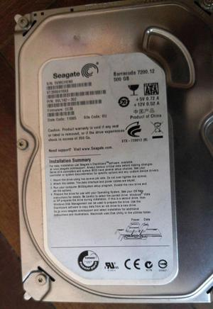 Disco duro Seagate 500GB Barracuda