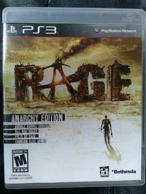 Juego Ps3 Rage Anarchy Edition