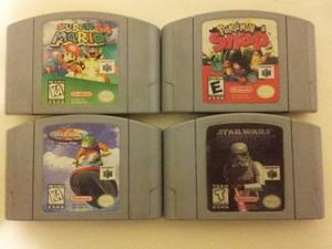 4 Juegos Para Nintendo 64 Super Mario 64 Star War Wave Race
