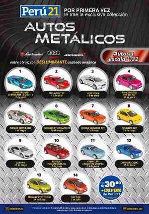 Colección Completa Autos Metalicos