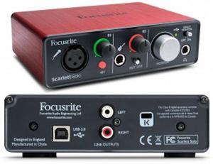 Interface De Audio Focusrite Scarlett Solo 2da Generacion